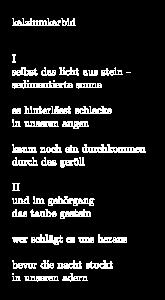 Nachtkarst Gedicht 6